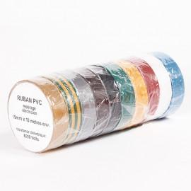 Adhésif électricien 15 mm x 10 M marron - fixtout