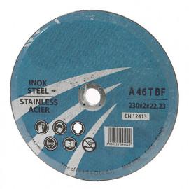 Disue à tronçonner les métaux D. 230 x Al. 22,23 x ép. 3 mm - fixtout