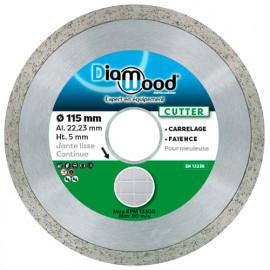 Disque diamant CUTTER D. 115 x Al. 22,23 x Ht. 5 mm - carrelage, faïence - fixtout