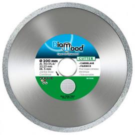 Disque diamant CUTTER D. 200 x Al. 30/25,4/22,23 x Ht. 5 mm - carrelage, faïence - fixtout