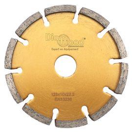Disque diamant à déjointoyer D. 125 x Al. 22,23 x Ht. 7 x ép. 10 mm - béton, matériaux de construction - fixtout