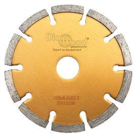 Disque diamant à déjointoyer D. 125 x Al. 22,23 x Ht. 7 x ép. 6,4 mm - béton, matériaux de construction - fixtout