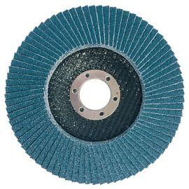 Disque/plateau bombé à lamelles zirconium D. 115 x 22,23 mm Gr 80 pour INOX, ACIER - Diamwood