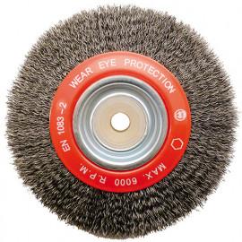 Brosse circulaire D. 150 x 20 x 32 mm. Fils de 0,35 mm en acier - 800392 - Peugeot