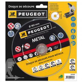 Disque à tronçonner D. 180 x 1,6 x 22,2 - Métal - 801180 - Peugeot