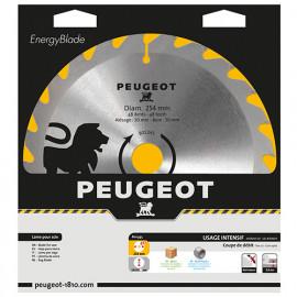 Lame carbure pour scie circulaire D. 254 x 30 mm x Z 48 - Bois - 801345 - Peugeot