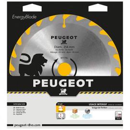 Lame carbure pour scie circulaire D. 254 x 30 mm x Z 60 - Bois - 801346 - Peugeot