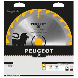 Lame carbure pour scie circulaire D. 305 x 30 mm x Z 40 - Bois - 801349 - Peugeot