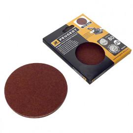 6 disques abrasifs auto-agrippants D. 127mm - Grain 80 pour ENERGYSAND 25T - 806294 - Peugeot