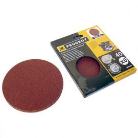 6 disques abrasifs auto-agrippants D. 150 mm - Grain 40 pour ENERGYSAND 150 - 806308 - Peugeot