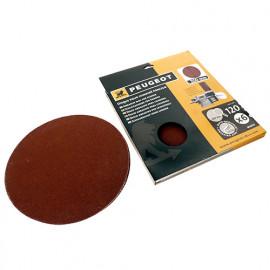 6 disques abrasifs auto-agrippants D. 200 mm - Grain 120 pour ENERGYSAND 200ASP - 806313 - Peugeot