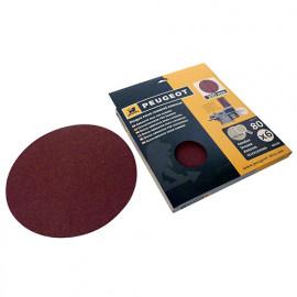 6 disques abrasifs autocollants D. 200 mm - Grain 80 pour ENERGYSAND 200ASP - 806321 - Peugeot