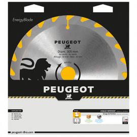 Lame carbure pour scie circulaire D. 305 x 30 mm x Z 60 - Bois - 801353 - Peugeot