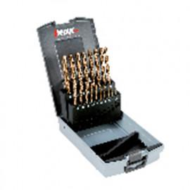 """1 Coffret de forets métaux HSSCO de 21 pcs, D. 1/16"""" à 3/8"""" x 1/64"""" - 11730000003 - Hepyc"""