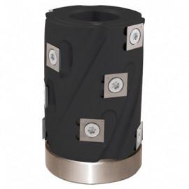 Porte-outils de toupie hélicoïdal à calibrer D. 62 x Al. 30 x Ht. 80 mm Z 6 avec roulement - fixtout Platinum