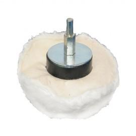Tampon de polissage dôme D. 60 mm sur tige - 102510 - Silverline