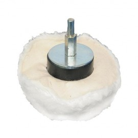 Tampon de polissage dôme D. 110 mm sur tige - 102524 - Silverline