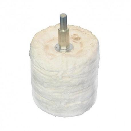 Tampon de polissage cylindrique D. 63 mm sur tige - 102552 - Silverline