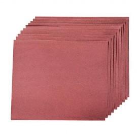 10 feuilles abrasives anti-encrassantes pour ponçage à main 230 x 280 mm Grain 80 - 102925 - Silverline