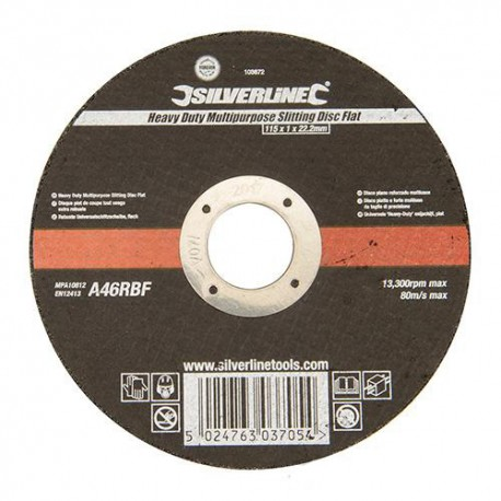 "Disque à tronçonner multi-usage ""PRO"" D.115 x 1 x 22,23 mm - 103672 - Silverline"