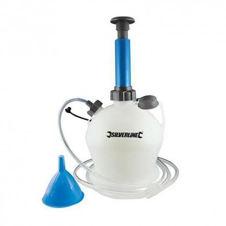 Pompe manuelle de vidange huile ou liquide 4 L - 104616 - Silverline