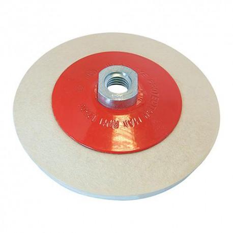 Disque à lustrer en feutre, conique D. 115 mm M14 - 105864 - Silverline