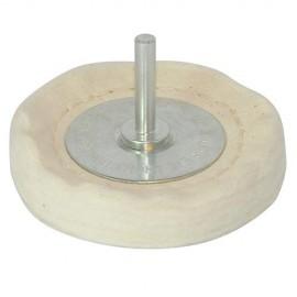 Roue de polissage à disques empilés D. 75 x 12 mm sur tige - 105882 - Silverline