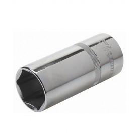 """Douille métrique profonde 1/2"""" D. 12 mm en chrome-vanadium - 107241 - Silverline"""