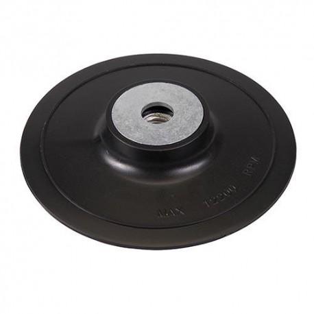 Plateau support rigide D. 125 mm x M14 pour disque semi-rigide - 108636 - Silverline