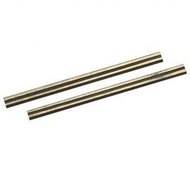 2 fers de rabot carbure de tungstène 82 x 5,5 x 1,1 mm - 125629 - Silverline
