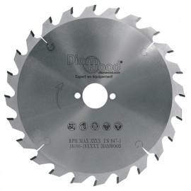 Lame de scie circulaire HM débit D. 216 x Al. 30 x ép. 2,8/1,8 mm x Z24 Alt nég pour bois - fixtout