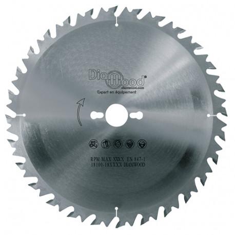 Lame de scie circulaire HM débit D. 300 x Al. 30 x ép. 3,2/2,2 mm x Z28 Alt + AR pour bois - fixtout
