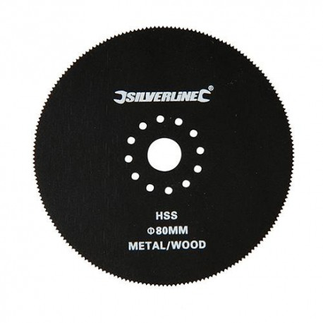 Lame circulaire D.80 mm HSS pour outil oscillant - 156711 - Silverline