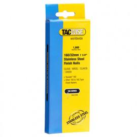 Boîte de 1000 clous de finition en acier inoxydable de type 16G L. 32 mm - TA-1096 - Tacwise