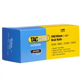 Boîte de 5000 clous de finition de type 18G L. 40 mm - TA-0400 - Tacwise