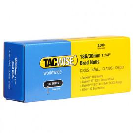 Boîte de 5000 clous de finition de type 18G L. 30 mm - TA-0397 - Tacwise