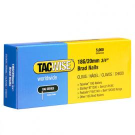 Boîte de 5000 clous de finition de type 18G L. 20 mm - TA-0395 - Tacwise