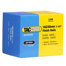 Boîte de 2500 clous de finition de type 16G L. 60 mm - TA-0300 - Tacwise
