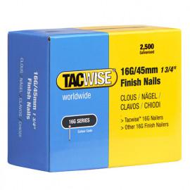 Boîte de 2500 clous de finition de type 16G L. 45 mm - TA-0297 - Tacwise