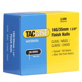 Boîte de 2500 clous de finition de type 16G L. 35 mm - TA-0295 - Tacwise