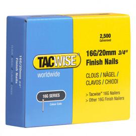 Boîte de 2500 clous de finition de type 18G L. 20 mm - TA-0665 - Tacwise