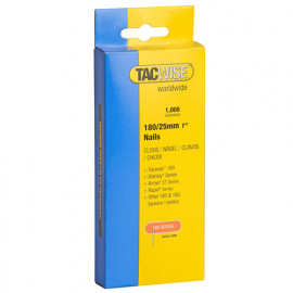 Boîte de 1000 clous en acier galvanisé en bande de type 180 L. 25 mm - TA-0361 - Tacwise