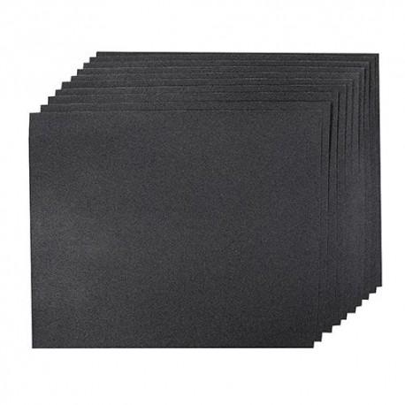 10 feuilles abrasives imperméables pour ponçage à main, sec ou humide 230 x 280 mm Grain 400 - 161667 - Silverline