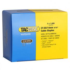 Boîte de 5000 agrafes pour câble de type CT60 L. 14 mm - TA-0356 - Tacwise