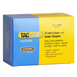 Boîte de 5000 agrafes pour câble de type CT60 L. 12 mm - TA-0355 - Tacwise