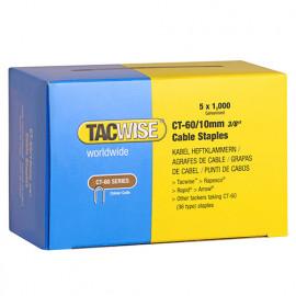 Boîte de 5000 agrafes pour câble de type CT60 L. 10 mm - TA-0354 - Tacwise