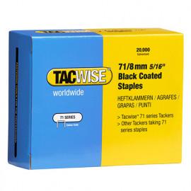 Boîte de 20000 agrafes galvanisées de type 71 L. 8 mm Noir - TA-1065 - Tacwise