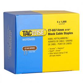 Boîte de 5000 agrafes pour câble type CT60 L. 14 mm noires - TA-1061 - Tacwise