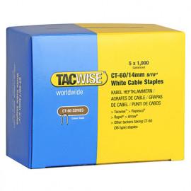 Boîte de 5000 agrafes pour câble type CT60 L. 14 mm blanches - TA-0357 - Tacwise