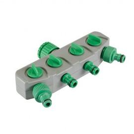 Sélecteur robinet d'eau 4 circuits - 167269 - Silverline